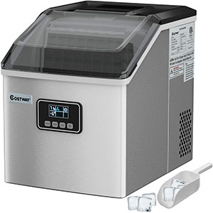 Costway Clear Countertop Ice Maker